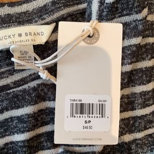 Lucky Brand Tops - NWT Lucky Brand Burnout Striped Pocket Tee
